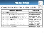 maze class