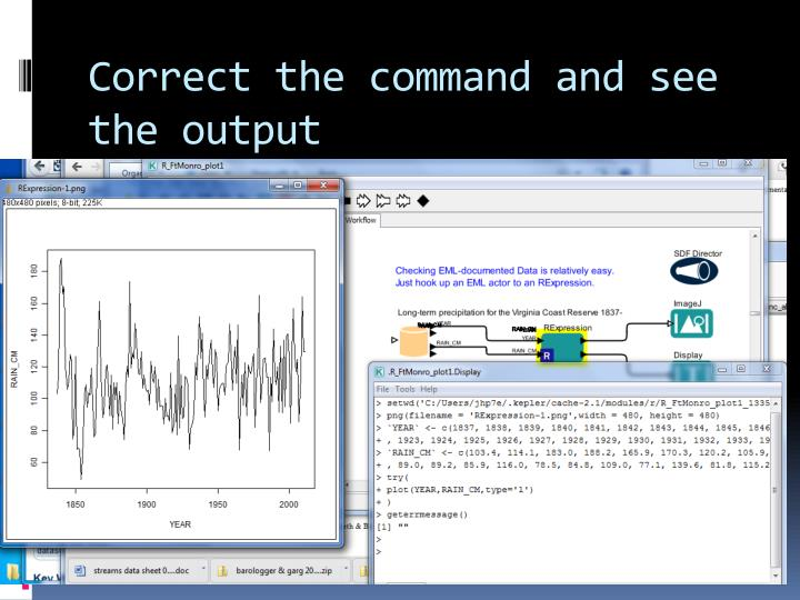 Correct the command and see the output