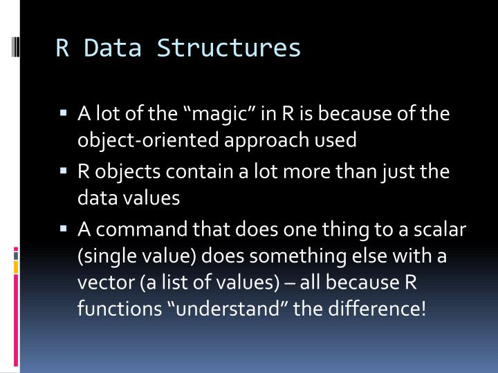 R Data Structures
