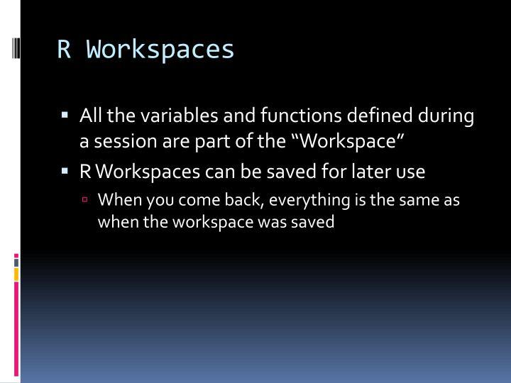R Workspaces