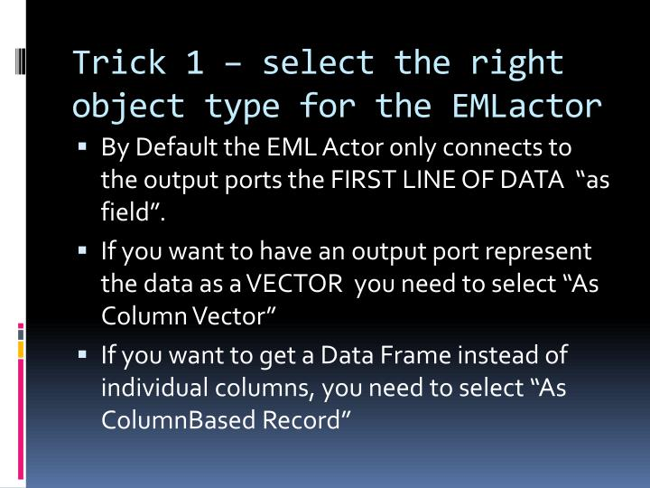 Trick 1 – select the right object