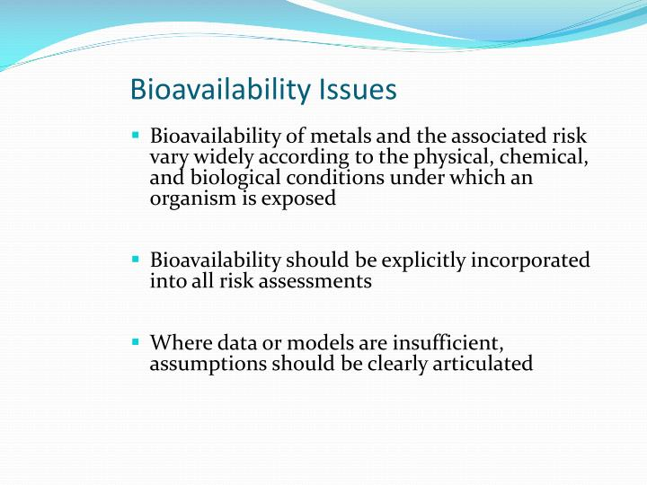 Bioavailability Issues
