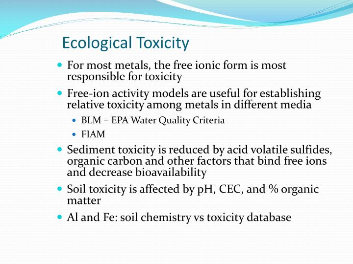 Ecological Toxicity