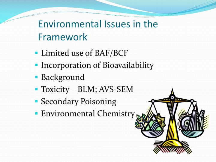 Environmental Issues in the Framework