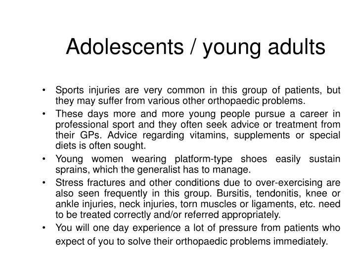 Adolescents / young adults