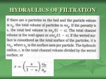 hydraulics of filtration2