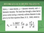 hydraulics of filtration6