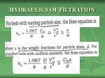 hydraulics of filtration8