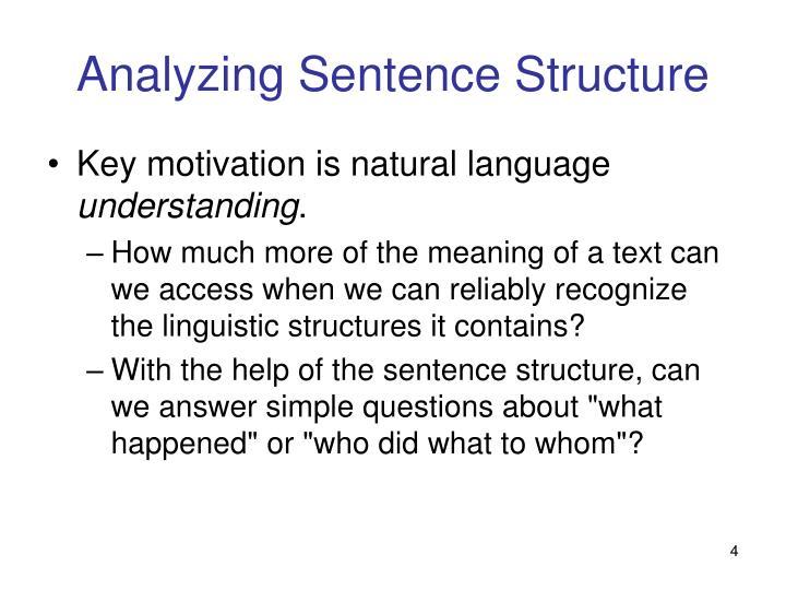Analyzing Sentence Structure