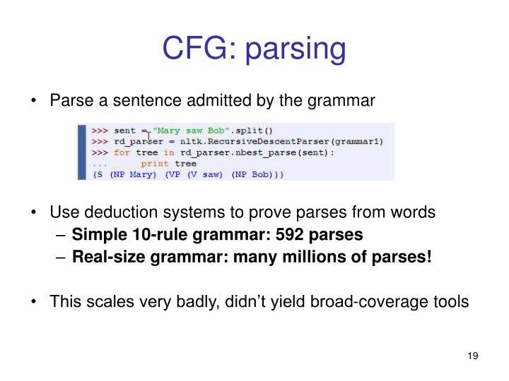 CFG: parsing