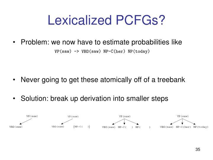 Lexicalized PCFGs?