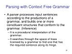parsing with context free grammar