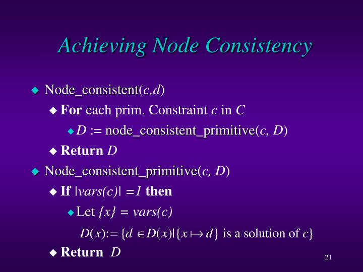 Achieving Node Consistency
