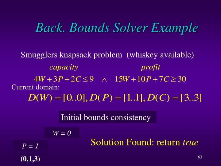 Back. Bounds Solver Example