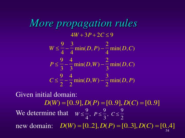 More propagation rules