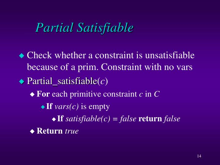 Partial Satisfiable