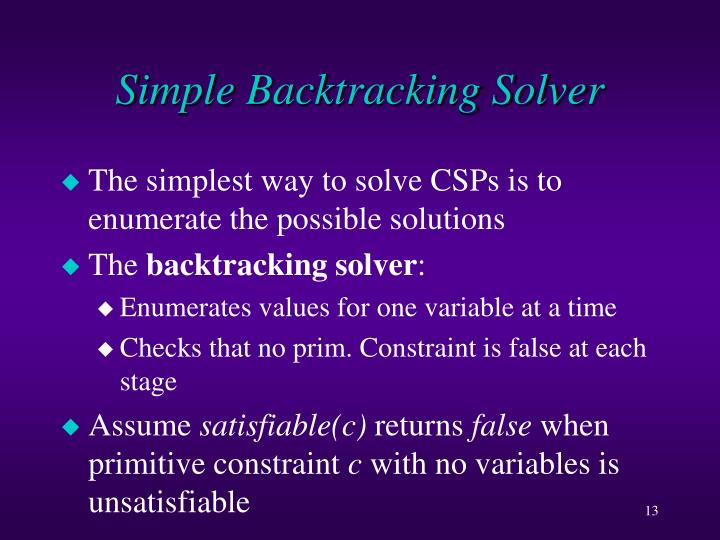 Simple Backtracking Solver