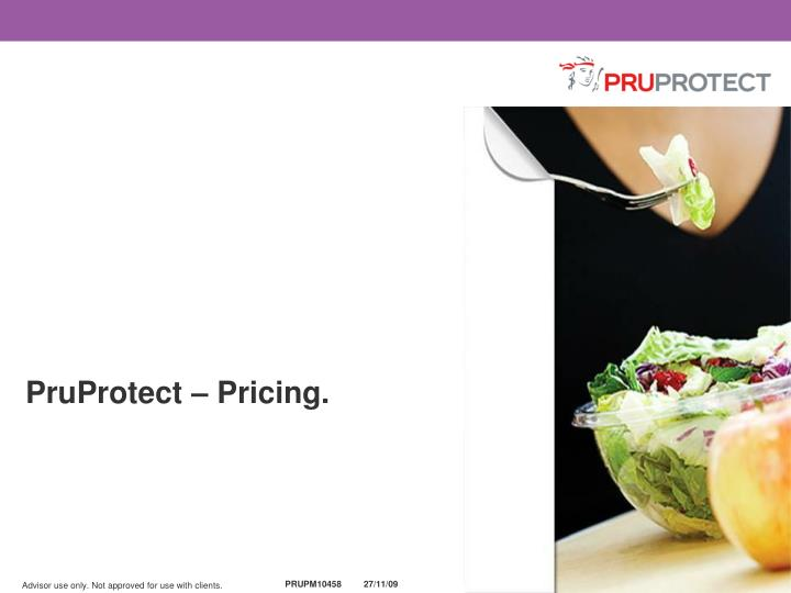 PruProtect – Pricing.