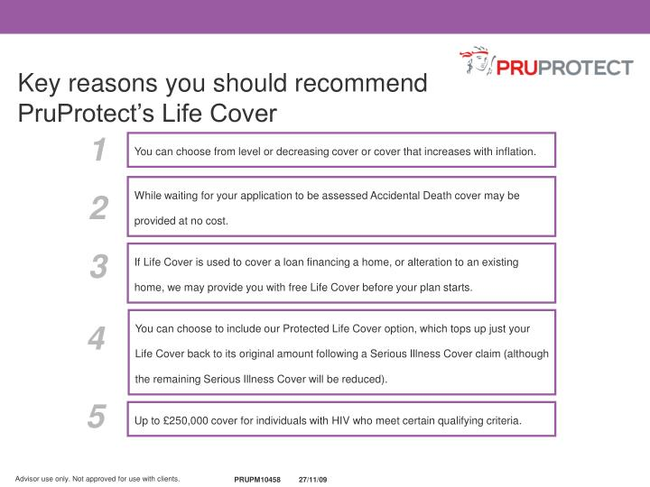 Key reasons you should recommend PruProtect's Life Cover