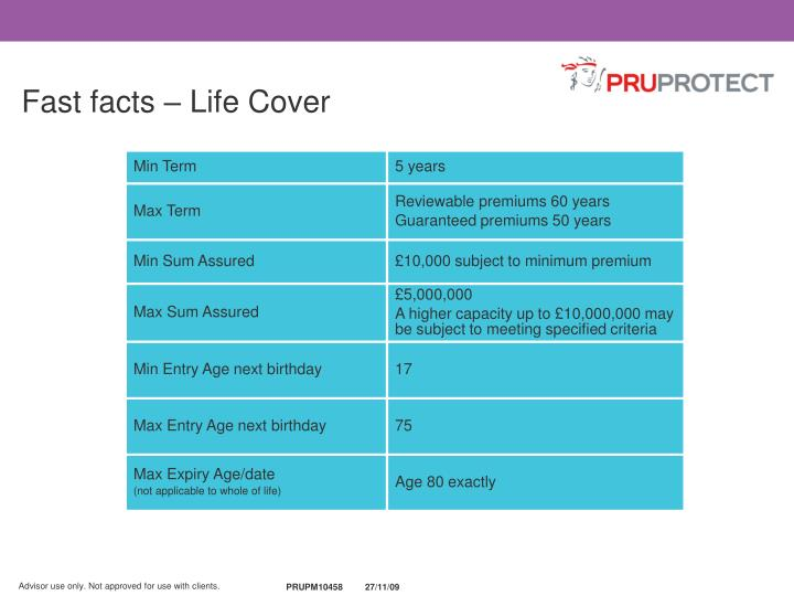Fast facts – Life Cover