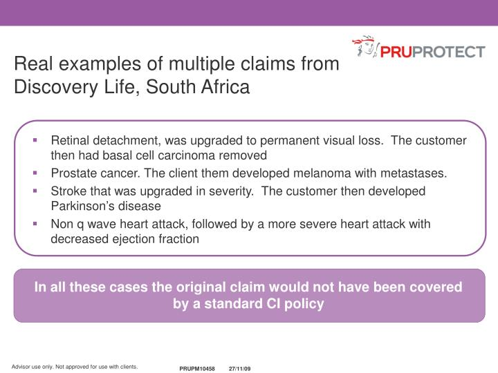 In all these cases the original claim would not have been covered by a standard CI policy