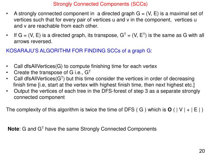 Strongly Connected Components (SCCs)