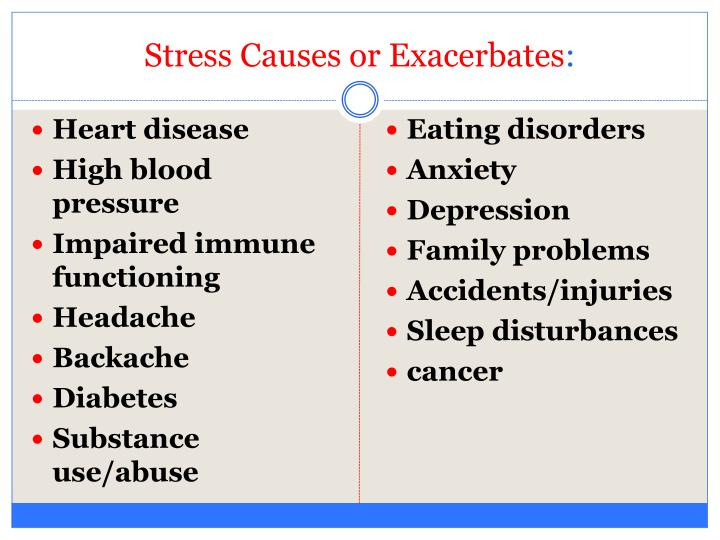 Stress Causes or Exacerbates