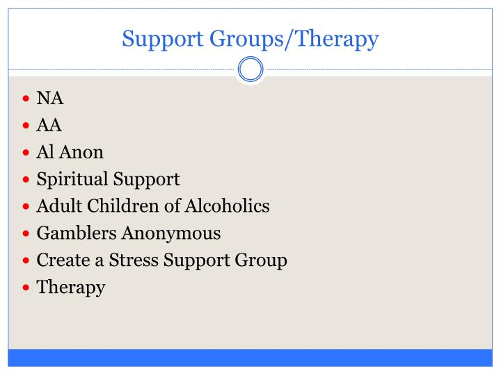 Support Groups/Therapy