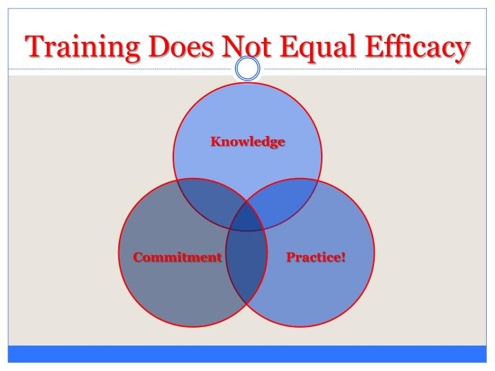 Training Does Not Equal Efficacy