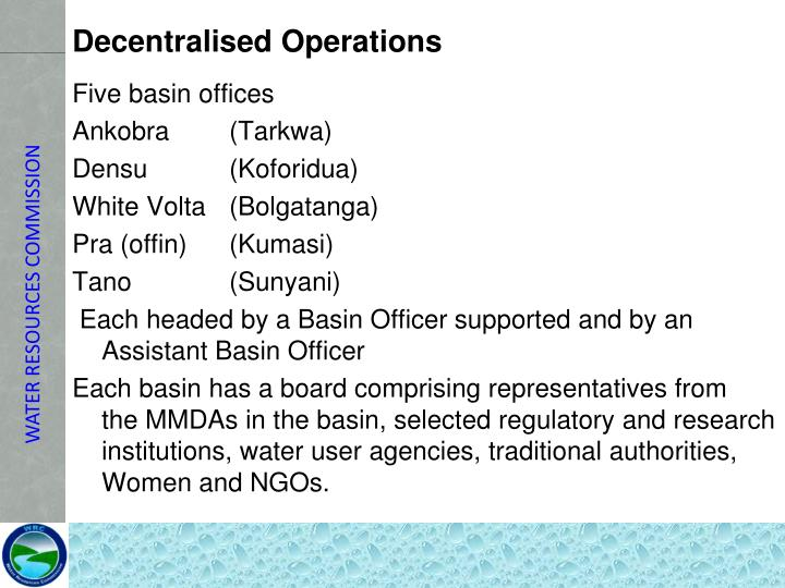 Decentralised Operations