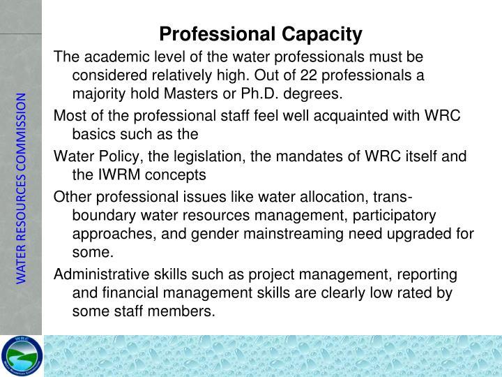 Professional Capacity