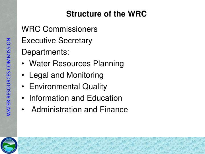 Structure of the WRC