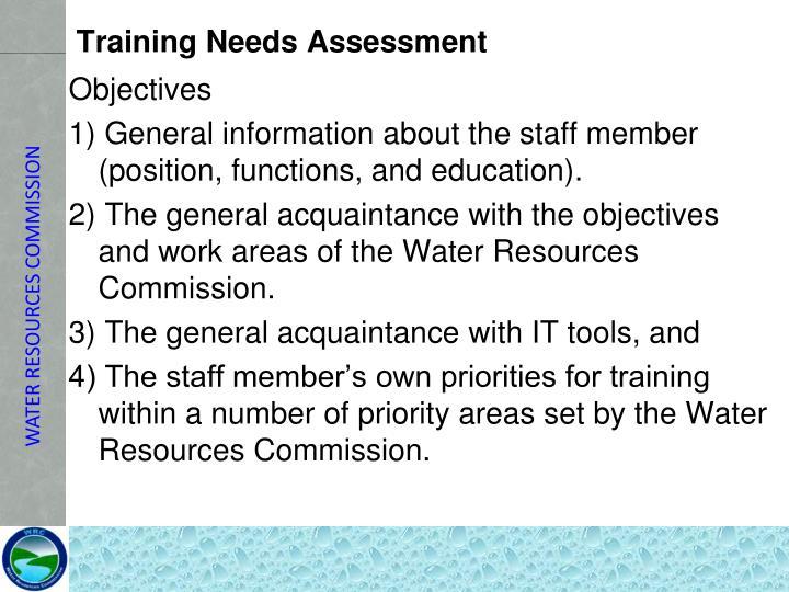 Training Needs