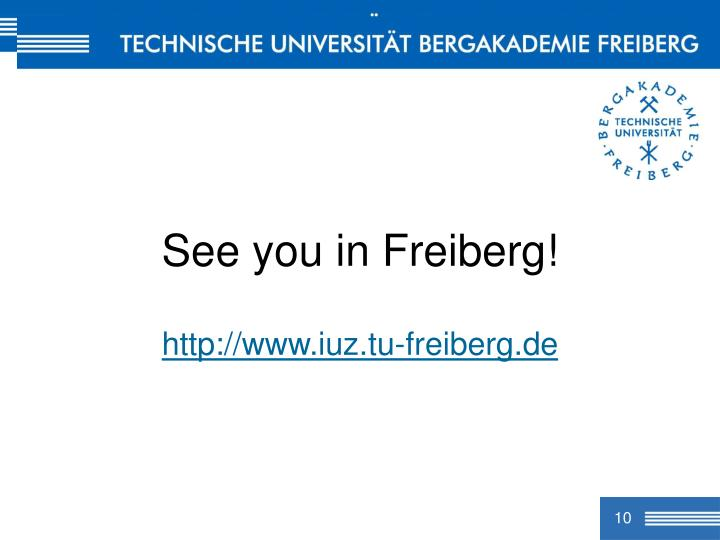 See you in Freiberg!