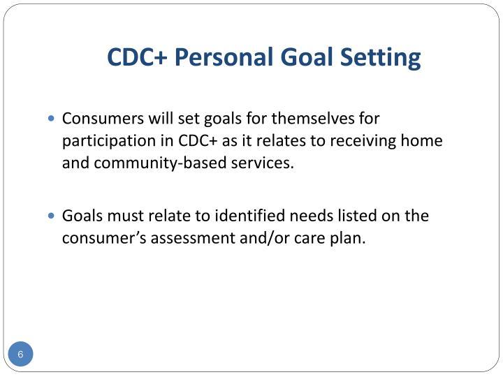 CDC+ Personal Goal Setting