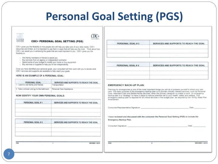 Personal Goal Setting (PGS)