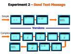 experiment 2 send text message
