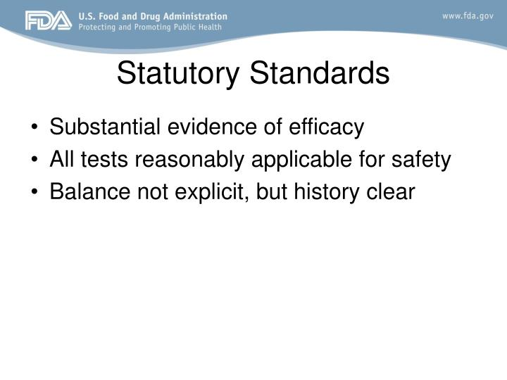 Statutory Standards