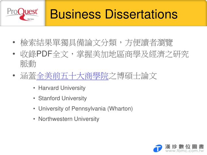 Business Dissertations