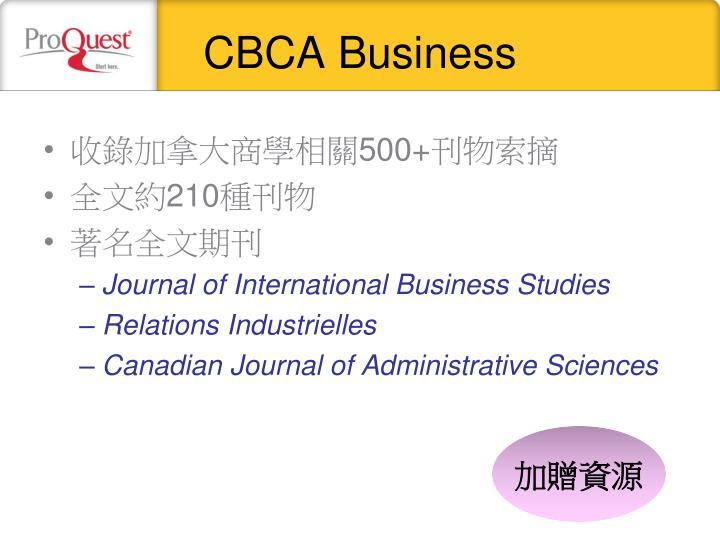 CBCA Business