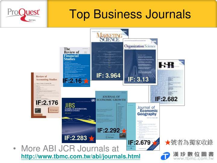 Top Business Journals