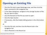 opening an existing file