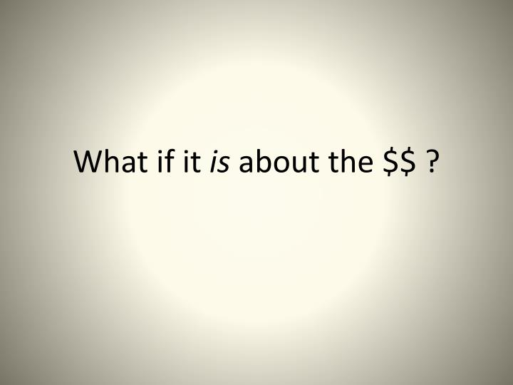 What if it