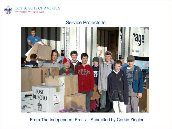 Service Projects to…