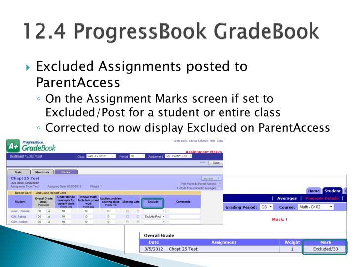 12.4 ProgressBook GradeBook