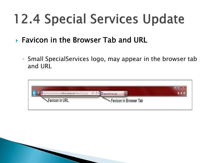 12.4 Special Services Update