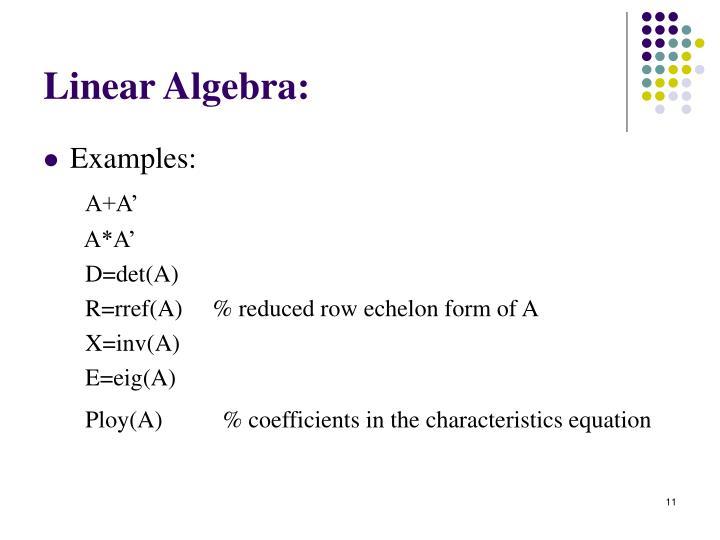 Linear Algebra: