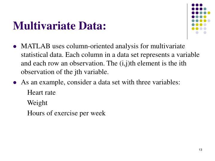Multivariate Data: