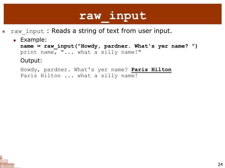 raw_input