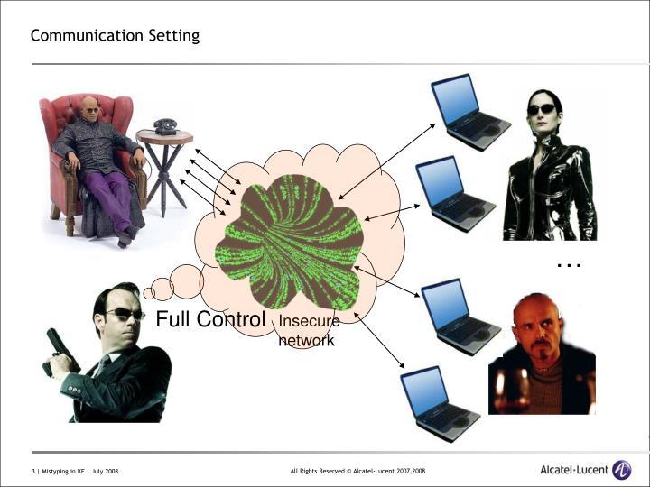 Communication Setting